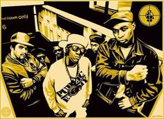 OBEY - Public Enemy  The print is signed by Obey, Chuck D., and Glen E. Friedman
