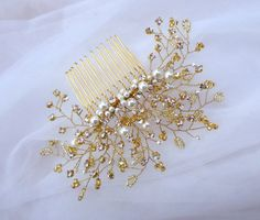 Wedding hair comb Pearl Hair Comb Bridal by MagicBluebellDesigns