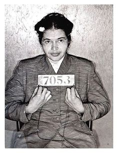 """Rosa Parks- """"I have learned over the years that when one's mind is made up, this diminishes fear; knowing what must be done does away with fear."""""""