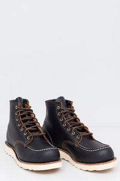 Red Wing Shoes - 9874 Moc Toe Irish Setter Black