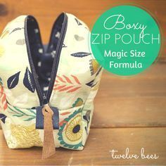 Twelve Bees Handmade Goods: How to Make Any Size Boxy Zipper Pouch
