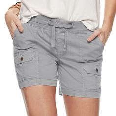 Welcome warm days with these women's SONOMA Goods for Life shorts. Shorts With Pockets, Pocket Shorts, Tummy Control Jeans, Shorts Sale, Sonoma Goods For Life, Womens Size Chart, Curvy Fit, Cropped Skinny Jeans, Under Armour Women