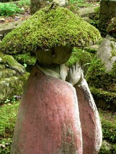 Moss covered Jizo Boddhisattva