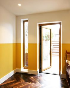 Farrow & Ball Babouche Farrow & Ball Babouche Yellow and White Wall Paint Color Palette This image has get Yellow Walls Living Room, Mustard Living Rooms, Yellow Accent Walls, Living Room Paint, Farrow Ball, Yellow Paint Colors, Wall Paint Colors, Yellow Painting, Color Yellow