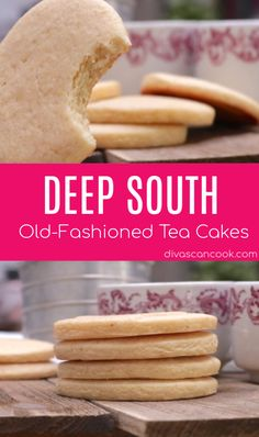 Fashioned Tea Cakes - Southern-Style Like Grandma's! Deep South Old-Fashioned Tea Cakes Recipe Great Desserts, Party Desserts, Delicious Desserts, Tea Cake Cookies, Yummy Cookies, Sugar Cookies, Cupcakes, Baby Cookies, Heart Cookies
