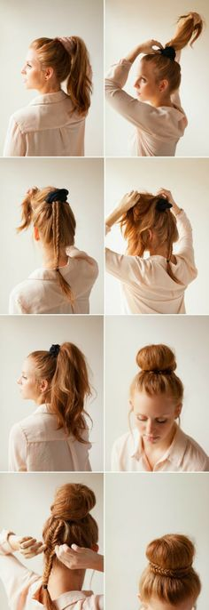 DIY Elegant Fishtail Bun Wedding Updos | Wedding Updos For Long Hair