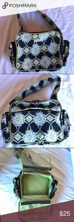 Bumble Etc. Bumble Collection Floral Diaper Bag ACCEPTING OFFERS!!. No low ballers. No trades. Used lightly but excellent condition. No stains or flaws. Stylish and portable. Not too big or small. Can also be used a lunch bag. Various zippered compartments as shown in pics. Two side pockets. Two clear plastic zippered pouches which open up. (Zoom in pics to see). Zippered inner pocket and outside back pocket. Velcro strap. Retail $80 Bumble Collection  Bags Baby Bags