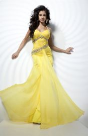 Modern A-line Beaded Silk Like Satin Sleeveless Zipper Homecoming Dress Affordable Evening Gowns, Mermaid Evening Dresses, Yellow Fashion, Couture Dresses, Dress Codes, Special Occasion Dresses, Homecoming Dresses, Formal Dresses, Clothes