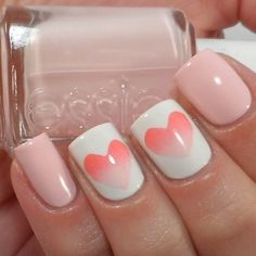 Hearts on the Sponge Nail Art Designs  | See more nail designs at http://www.nailsss.com/acrylic-nails-ideas/2/