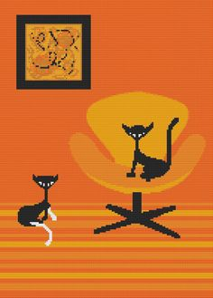 Modern Cross Stitch Pattern 'Littles' By Kerry Beary by GeckoRouge, $25.00