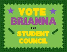 campaign student council Make a School Election Poster Student Council President Speech, Slogans For Student Council, Student Council Campaign, School Campaign Posters, School Posters, School Signs, Kids Education, School Projects, Vows
