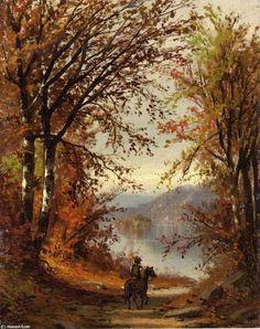 Paysage de Jasper Francis Cropsey (1823-1900, United States)