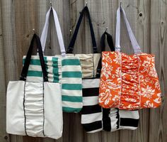 Morning by Morning Productions: Ruched Tote Tutorial