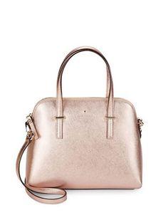 Kate Spade New York Leather Dome Satchel Handbag Women's Rose Gold