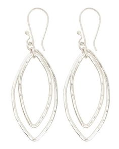 Trades of Hope - The go-with-everything accessory, these 2×1-inch, hammered silver finish earrings are crafted in Kenya from heavy-gauge metal and will be a signature of your wardrobe for years to come.
