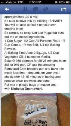 No more boxed brownie mix! Make your own mix!