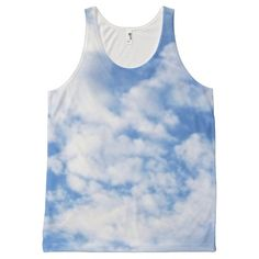 Clouds All Over Print Tank Top