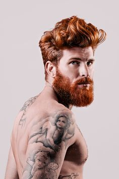 Impressive beard and hairstyle. Some pretty sweet tattoos too! #tattoo #tattoos #ink #beard #moustache #gent #style #urban