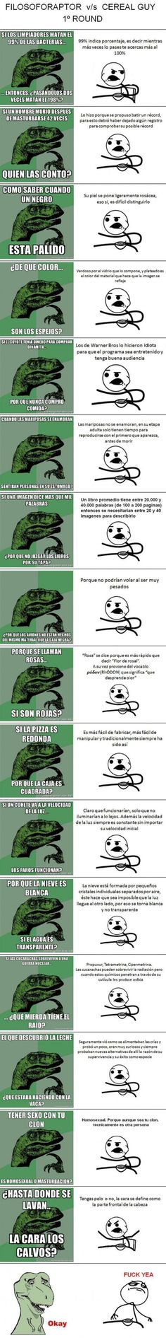 Filosoforaptor VS Cereal Guy 1er Round