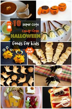 10 Super Cute Candy-Free Halloween Foods for Kids. Look at those pumpkins!