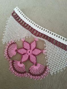 This Pin was discovered by Nec Needle Tatting, Needle Lace, Bobbin Lace, Embroidery Techniques, Embroidery Stitches, Embroidery Designs, Bead Crochet, Crochet Lace, Crochet Unique