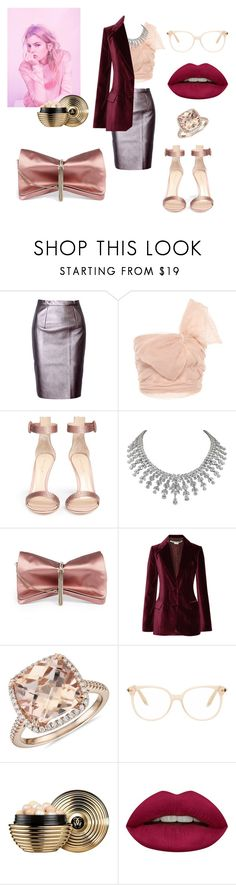 """Untitled #368"" by gloriatovizi on Polyvore featuring WithChic, RED Valentino, Gianvito Rossi, Jimmy Choo, STELLA McCARTNEY, Blue Nile, Victoria Beckham, Guerlain and Huda Beauty"
