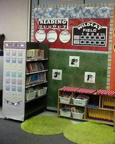 Reading Dugout/Baseball theme bulletin board