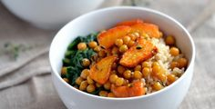 The chickpeas in this dish are packed with protein and fiber.