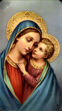.The Blessed Virgin and Jesus