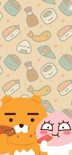 Framed Wallpaper, Bear Wallpaper, Cartoon Wallpaper, Mobile Wallpaper, Iphone Wallpaper, Cute Images, Cute Pictures, Kakao Ryan, Apeach Kakao