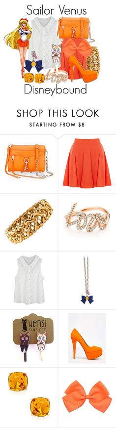 """""""Sailor Venus Disneybound"""" by capamericagirl21 ❤ liked on Polyvore featuring Rebecca Minkoff, Oasis, Bulgari, Paloma Picasso, GE, Anne Michelle and Ava & Aiden"""