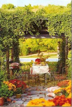 8 Inventive Tips: Large Patio Garden Ideas secret garden ideas articles.Garden Ideas Backyard Diy garden for beginners orchid care. Backyard Garden Design, Diy Garden, Backyard Patio, Garden Landscaping, Backyard Ideas, Garden Grass, Cozy Patio, Garden Shrubs, Yard Design