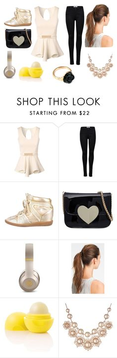"""""""black and gold"""" by nosaj14 ❤ liked on Polyvore featuring Jane Norman, ONLY, Isabel Marant, Beats by Dr. Dre, L. Erickson, Eos, Vivienne Westwood and LeiVanKash"""