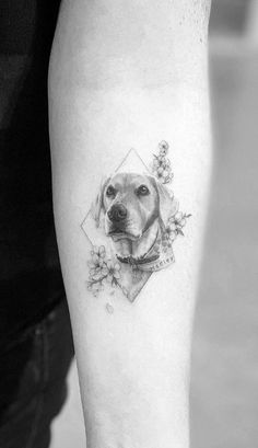46 Awesome Small Tattoos By Dragon - Link A Daily Arrow Tattoo, 4 Tattoo, Piercing Tattoo, Body Art Tattoos, Cool Tattoos, Awesome Tattoos, Tattoo For Dog, Beagle Tattoo, Tatoos