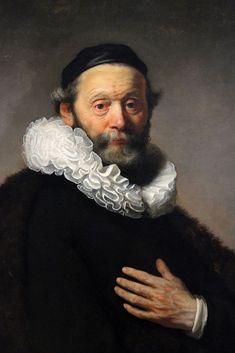 Portrait of Johan Wtenbogaert, by Rembrandt van Rijn, 1633: