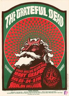 Grateful Dead at Avalon Ballroom 12/23-24/66 by Victor Moscoso