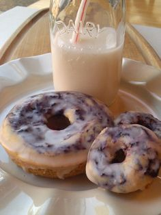 Blueberry Lemon Donuts - gluten free & vegan (top 8 allergen free)