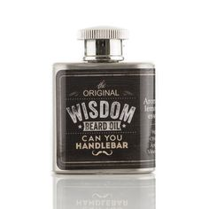 Can You HandleBar The Original Wisdom Beard Oil Flask from Bearded Pinoy