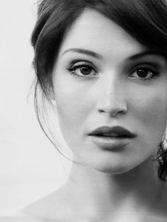 A simple black and white photo like this one of Gemma Arterton, is what I would like for my wedding day