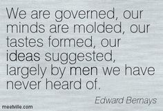 edward bernays on propaganda. He was Freud's nephew and the reason Freud is such a big name in the US now. Interesting guy