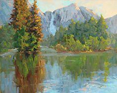 Yosemite Reflections by Tatyana Fogarty Oil ~ 16 x 20