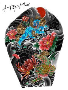 Japanese Tattoo Art, Japanese Tattoo Designs, Foo Dog Tattoo, Fu Dog, Vera Bradley Backpack, Oriental, Bear, Tattoo Ideas, Tatoo