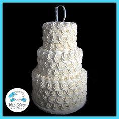 Buttercream Wedding Cake With Rosettes – Blue Sheep Bake Shop