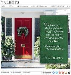 Talbots : Holiday Letter