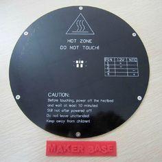 43.64$  Buy here - http://alitu0.worldwells.pw/go.php?t=2032671781 - 3 D printer parts Reprap Delta rostock MK3 MCPCB heat bed round 220mm 3 mm thick 12V 120W