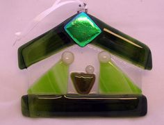 Ornament-sized, this one is fused glass.