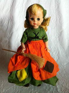 "13"" Poor Cinderella Madame Alexander Doll with BROOM"