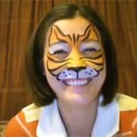 Maquillage Tigre facile Tuto maquillage enfant - Loisirs créatifs