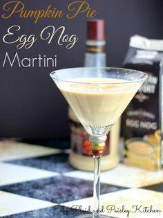 Pumpkin Pie Egg Nog Martini ~ The Plaid and Paisley Kitchen ~ www.pandpkitchen.co