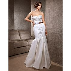 Trumpet/Mermaid Sweetheart Sweep/Brush Train Satin Wedding Dress  – EUR € 105.59